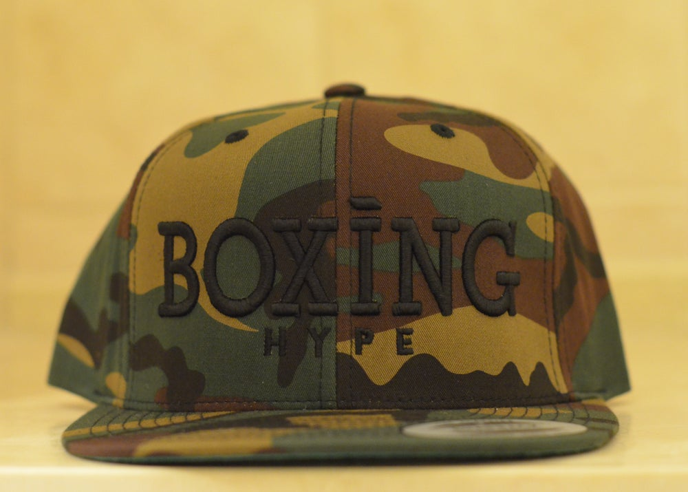 Image of limited edition camo BoxingHype SnapBacks