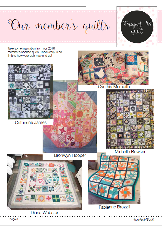 Image of Project 48 Quilt 2016 blocks ebook