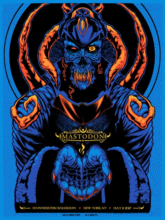Image of Mastodon NYC Gig Poster S/N