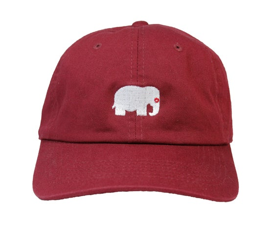 Image of Elephant Polo Hat (Maroon)