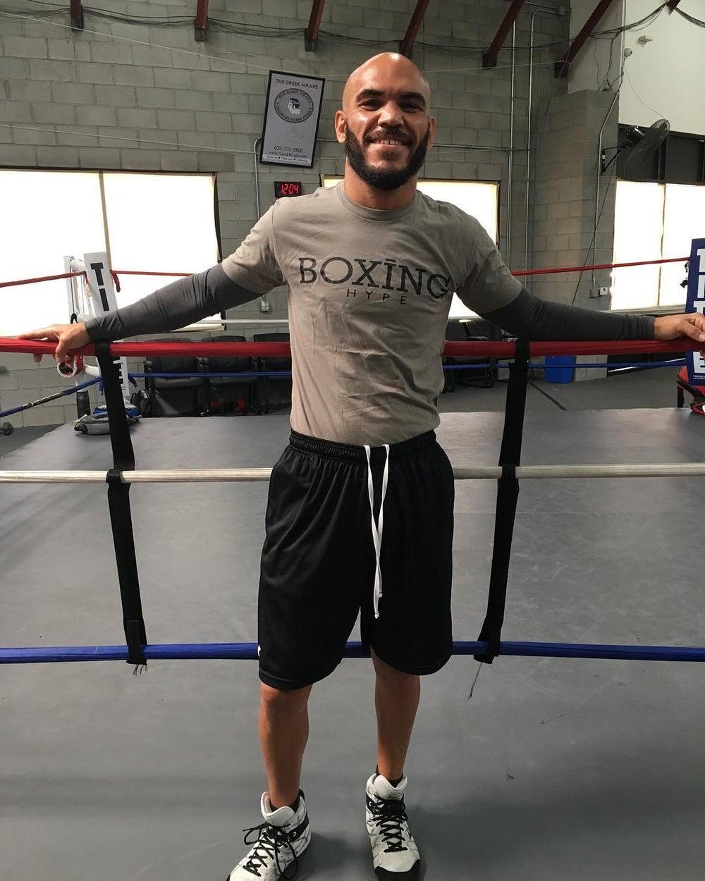Image of Mens Gray BoxingHype CREWNECK tees
