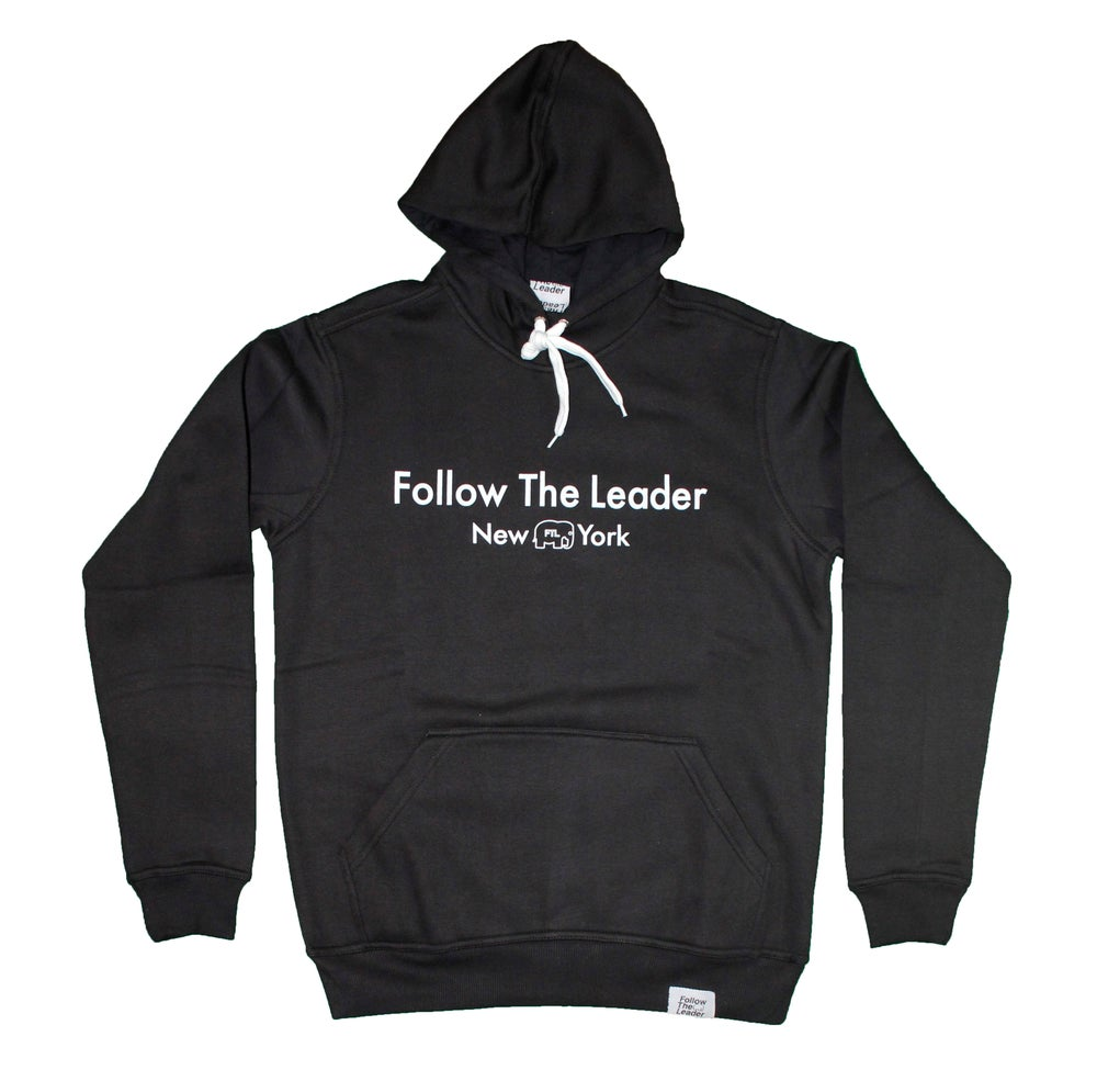 Image of Leader Hooded Sweatshirt (Black)