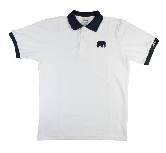 Image of Elephant Polo Short Sleeve (White)