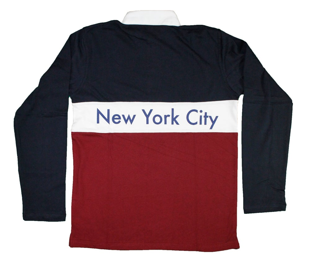 Image of FTL NYC Long Sleeve Rugby (Navy/Maroon)