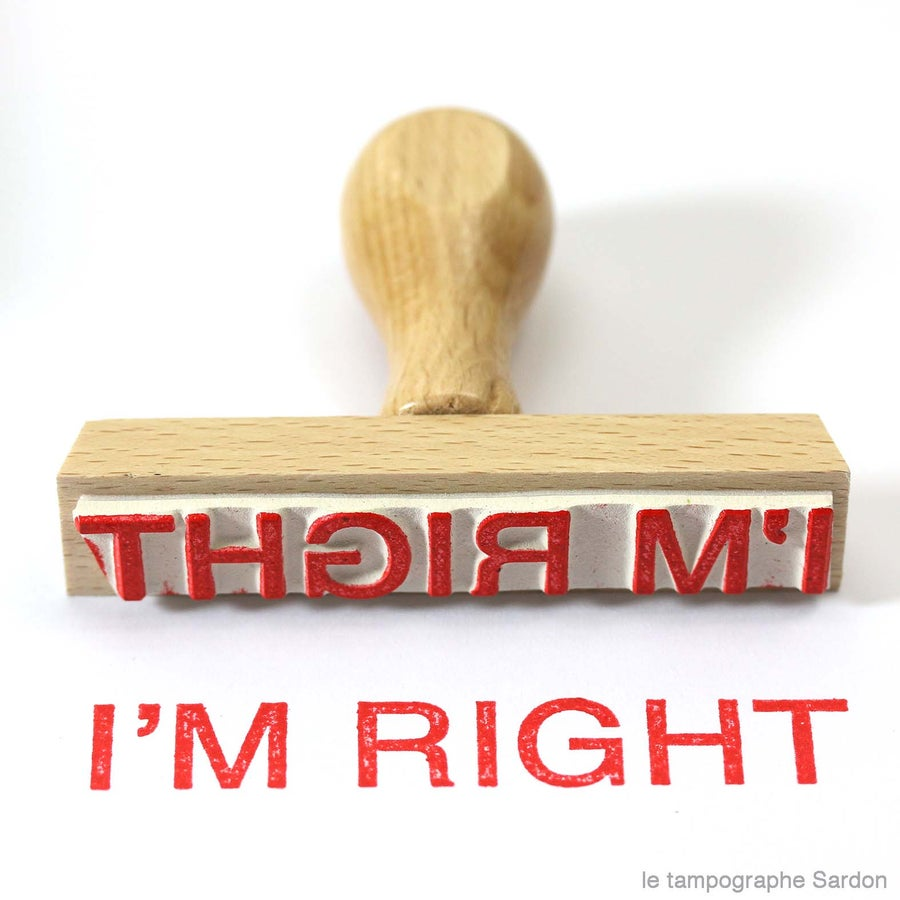 Image of I'm right