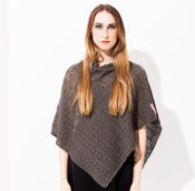 Image of Laceknitted poncho    Graphite