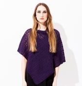 Image of Laceknitted Poncho                                         Dark Purple