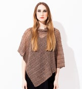 Image of Laceknitted Poncho                                                        Sand