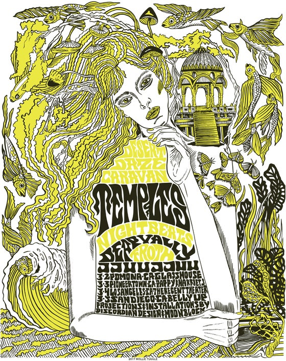 Image of   Desert Daze Caravan Tour Poster by Mollie Tuggle