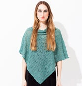 Image of Laceknitted poncho    Pale Turqoise