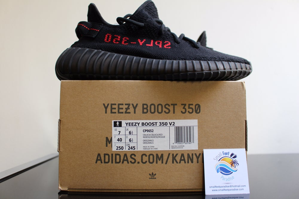 Yeezy Boost 350 V2 Black Red 'Bred' quick unboxing