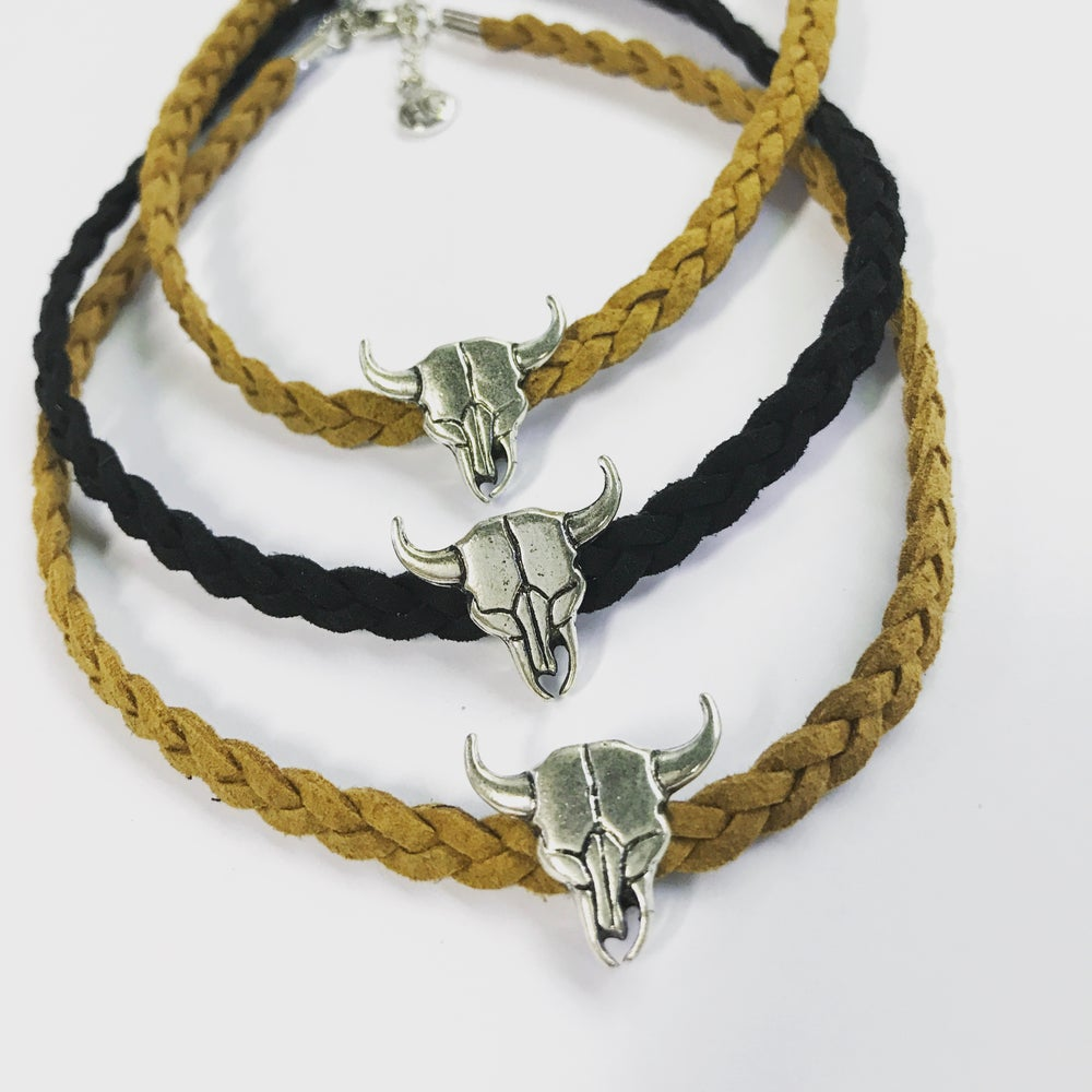 Image of Buffalo skull choker