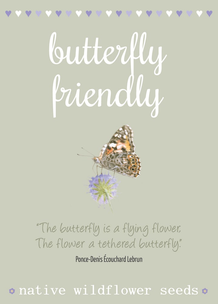 Image of Butterfly Friendly Seeds with Quote