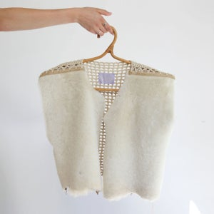 Image of Crochet & Sheepskin Layering Vest