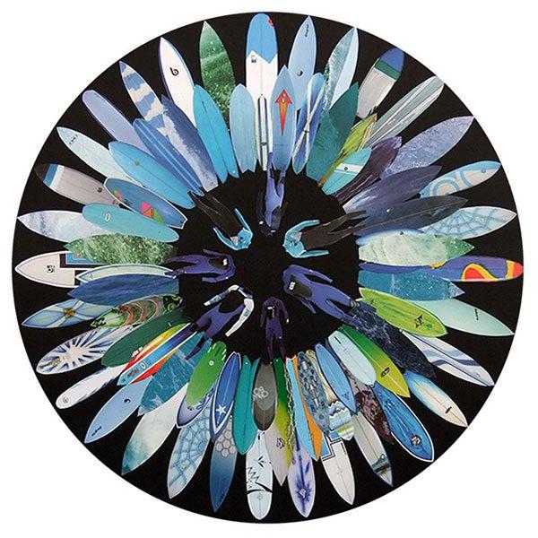 Image of Blue Surf Flower Print