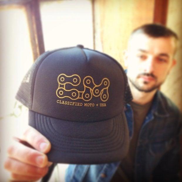 Image of CM Chain Logo Hat + Free Koozie