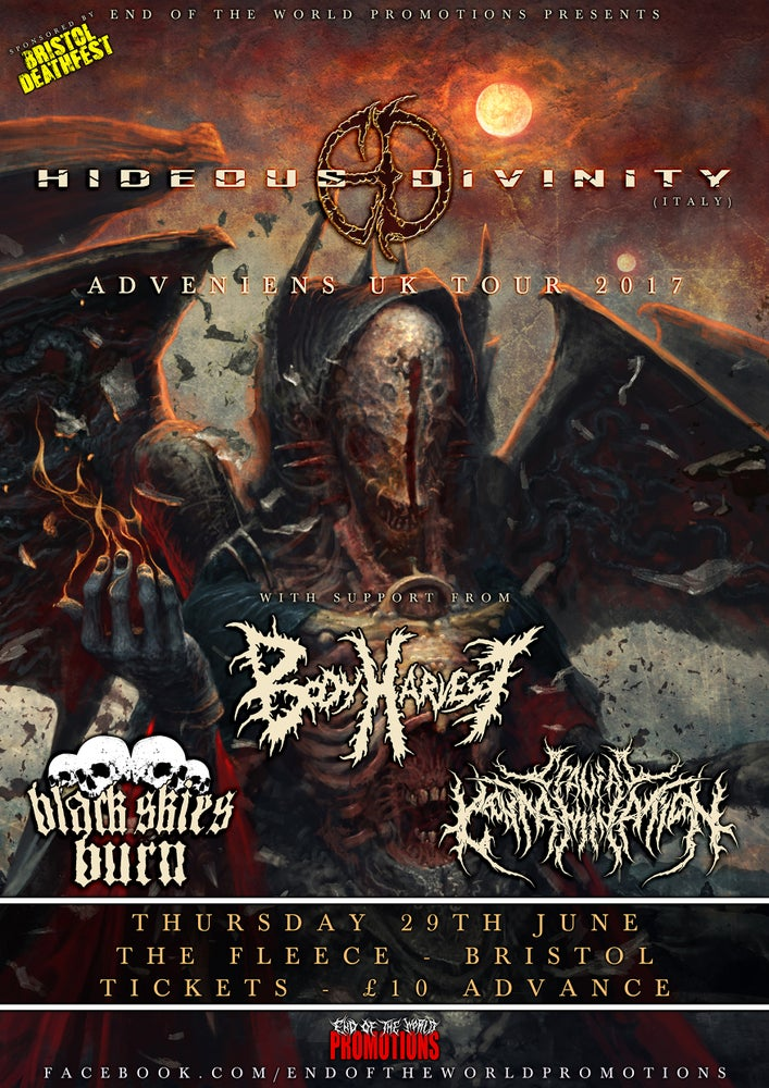 Image of HIDEOUS DIVINITY E-TICKETS - BRISTOL