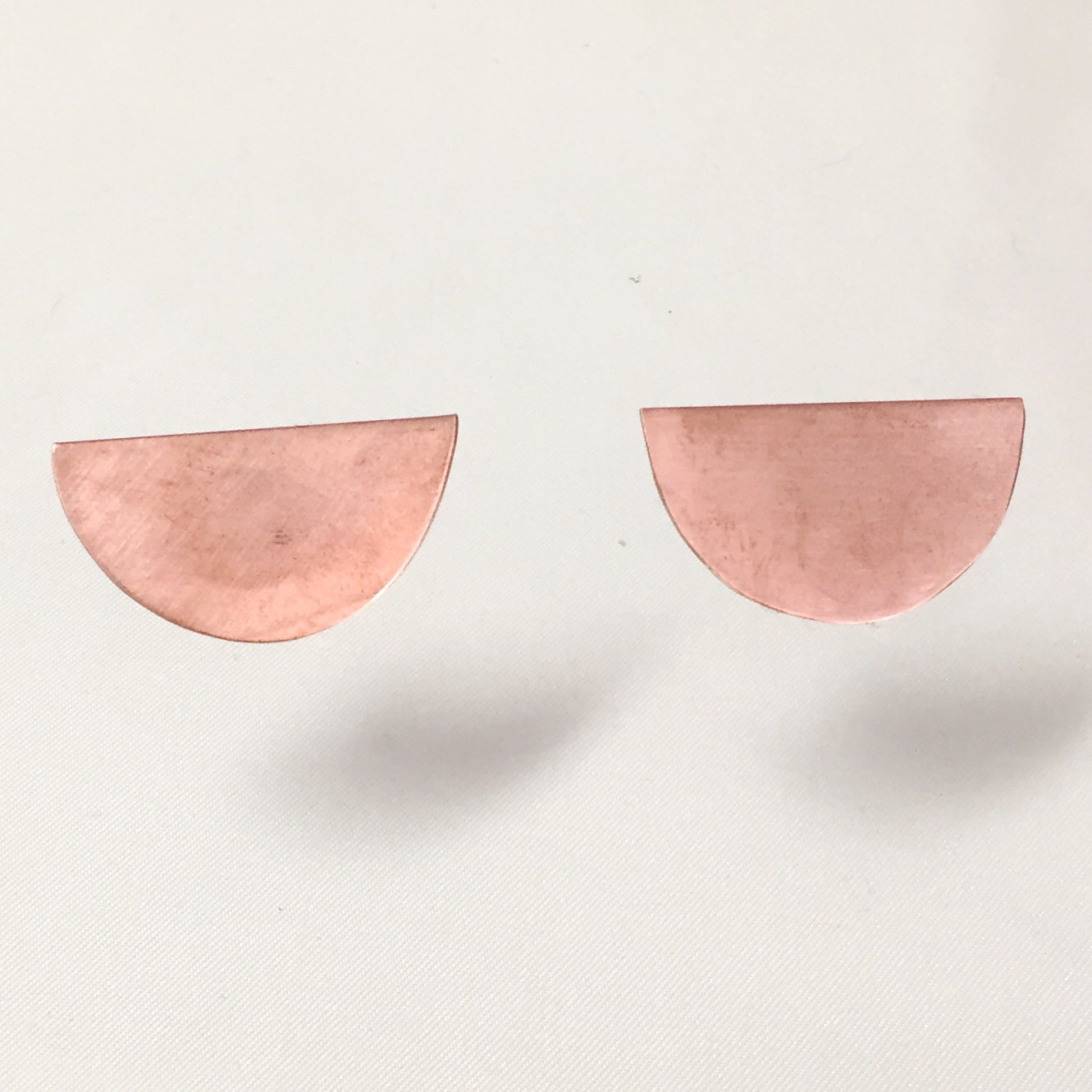 Image of Copper Half Moon Earrings