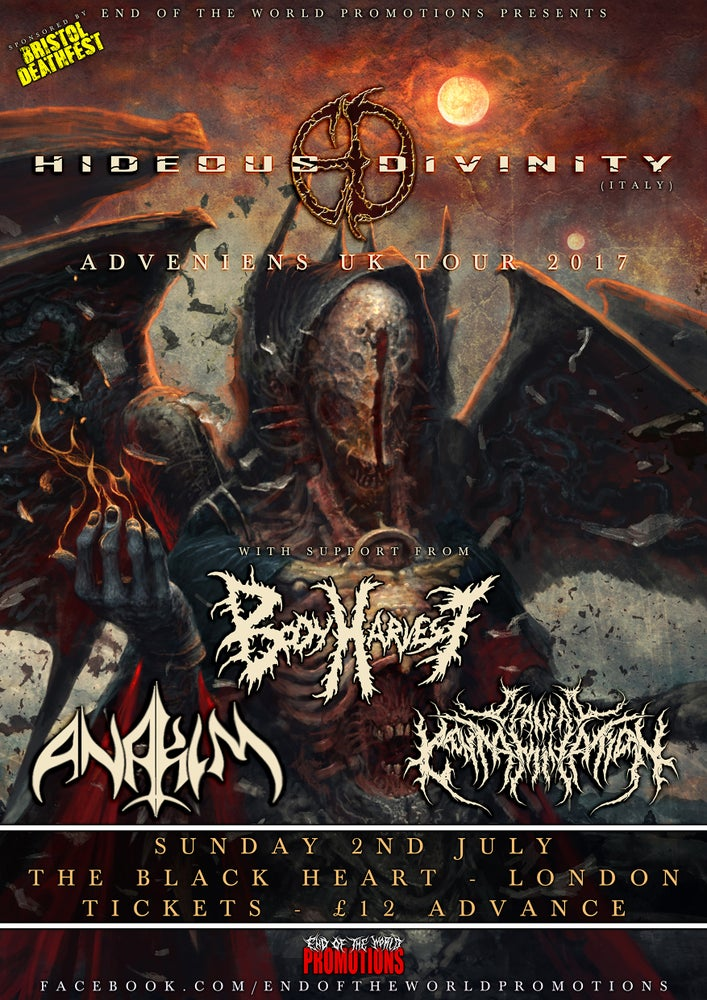 Image of HIDEOUS DIVINITY E-TICKETS - LONDON