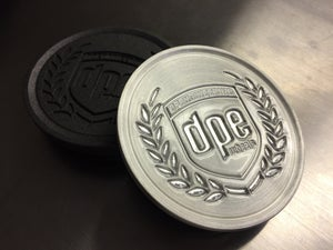 Image of Engraved Billet Aluminum Center Caps (Qty 4)