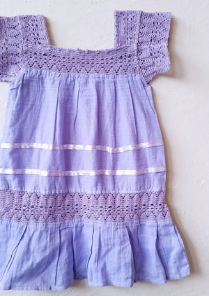 Image of LUXE Lavender Organic Boho Dress