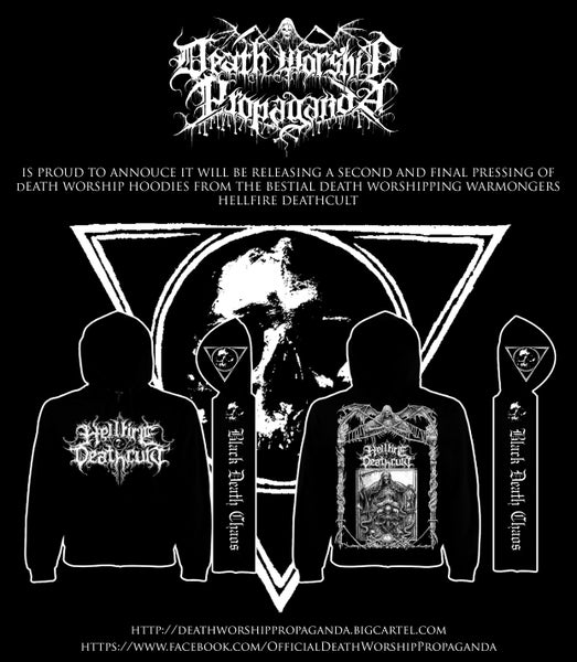 Image of Hellfire Deathcult - Death Worship Hoodie