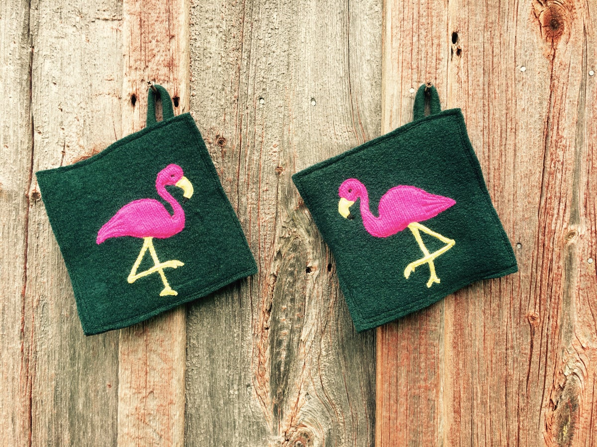 Image of F is for Fabulously Festive Flamingos