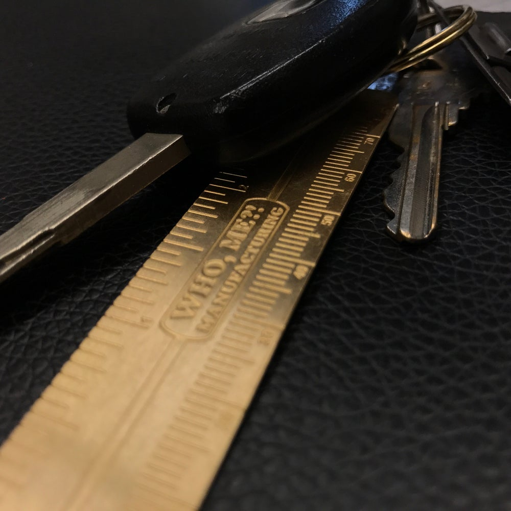 Image of NUDIE / RULER KEYCHAIN