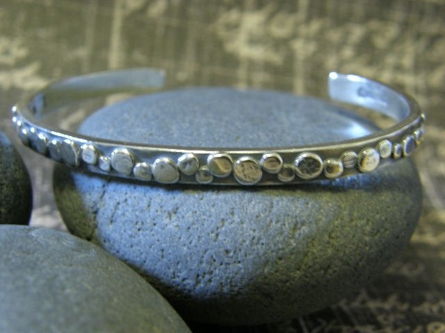 """Image of """"I will Travel down the Path of my Dreams"""" sterling cuff bracelet"""