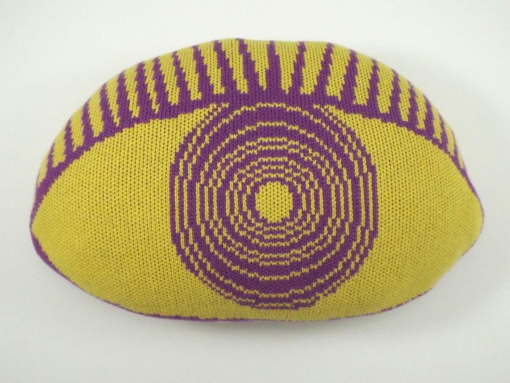 Image of Psychedelic Eye Cushion - yellow