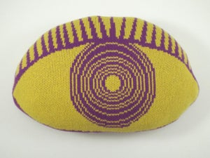 Image of Psychedelic Eye Cushion - yellow