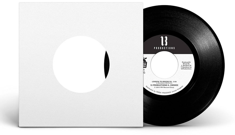 """Image of 13 Productions ft Emskee 'London To Brooklyn' 7"""" (FPI011)"""