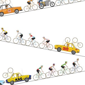 Image of Tour de France Alpe Giclee Print