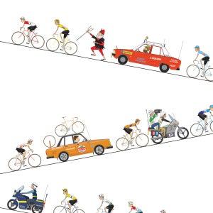 Image of Tour de France Alpe Giclee Print