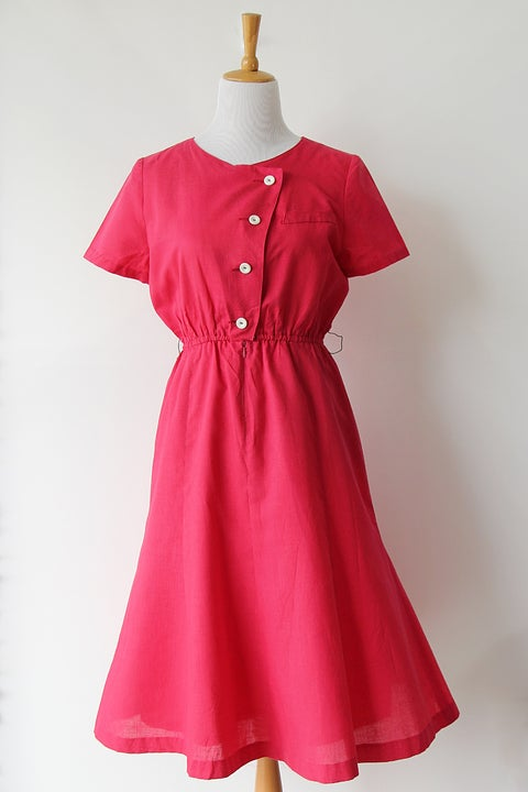 Image of SOLD Comfy Fuchsia Weekend Dress