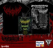 Image of VULVODYNIA - Tour shirt - Red logo + TOUR POSTER