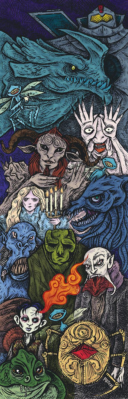 """Image of """"Los Monstruos de Del Toro"""" poster by Patch"""