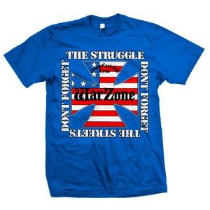 "Image of WARZONE ""Don't Forget The Struggle"" Royal Blue T-Shirt"