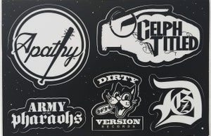 Image of Demigodz - AOTP - Dirty Version: Sticker Sheet