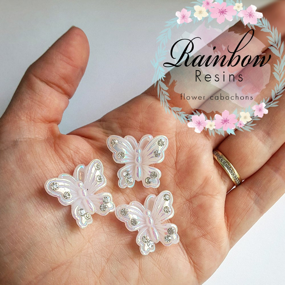 Image of AB butterflies with diamantes x 5