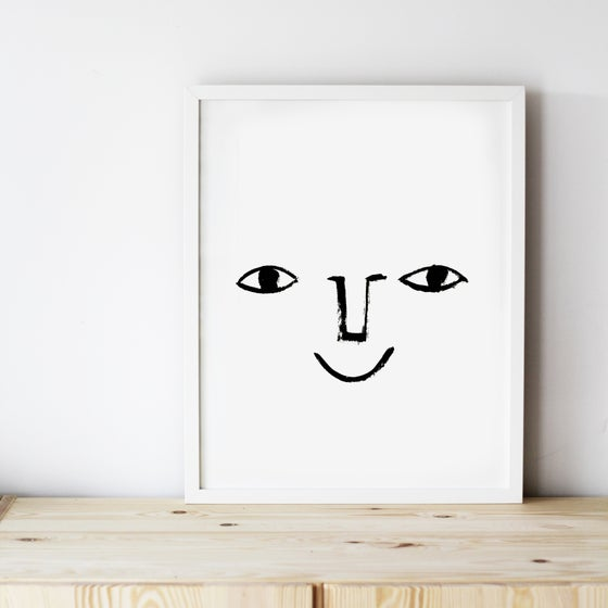 Image of ART PRINT | HAPPY FACE