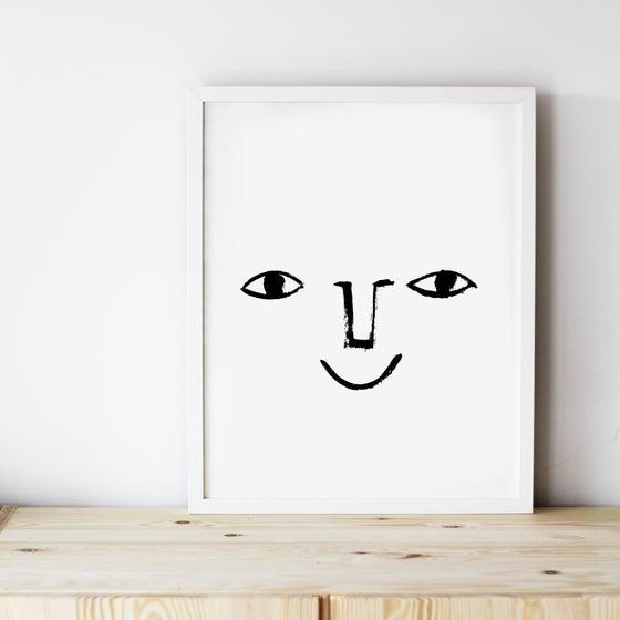 Image of ART PRINT | HAPPY FACE
