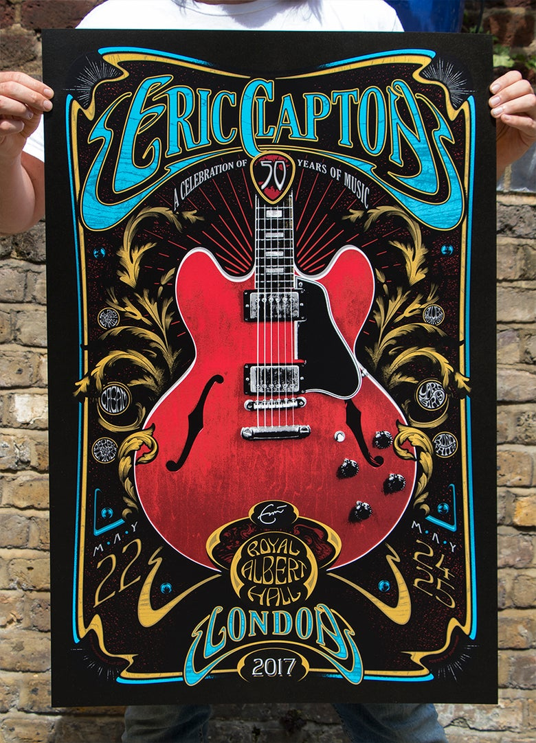 Image of SOLD OUT - LONDON Eric Clapton May 2017 Silkscreen Poster