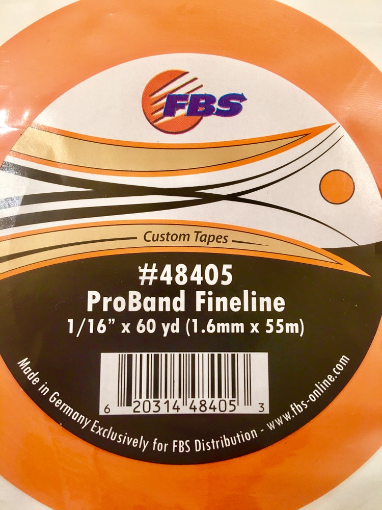 Image of FBS TAPE - ORANGE FINELINE 1/16