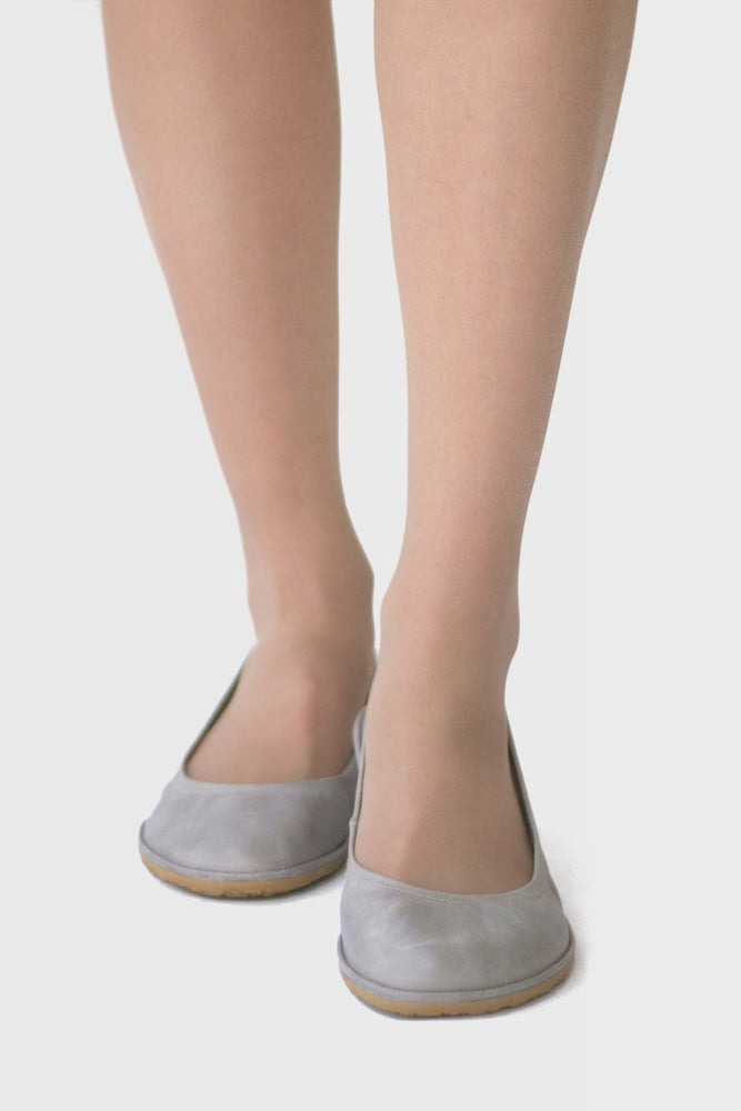 Image of Veg-Tanned - Eko in Grey ballet flats