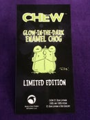 Image of CHEW: Limited Edition Glow-in-the-Dark Enamel Chog Pin!