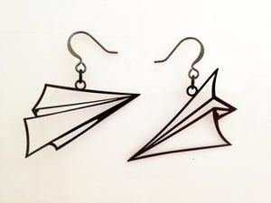 Image of Paper Airplane Earrings
