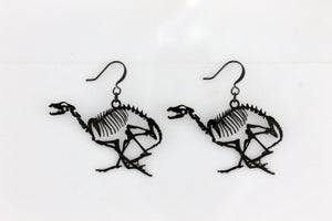 Image of Young @ Heart Black Earrings