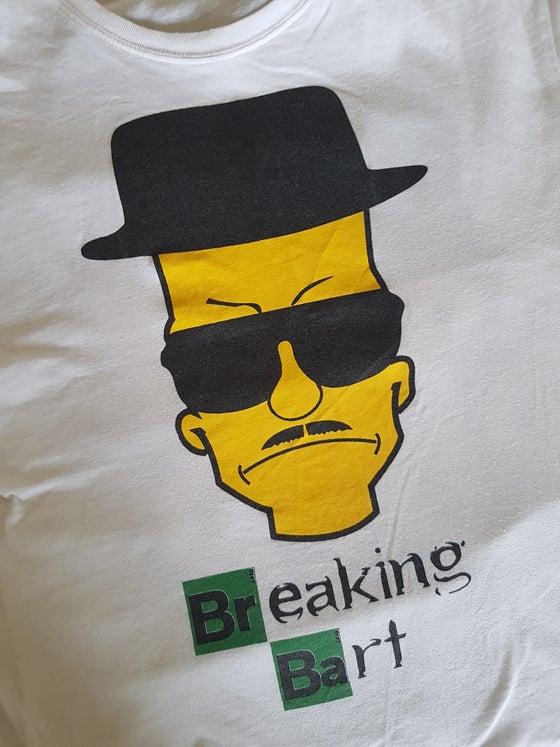 Image of Tshirt Breaking Bart Blanc