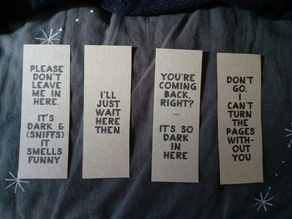 Image of bookmark set - all 4 designs
